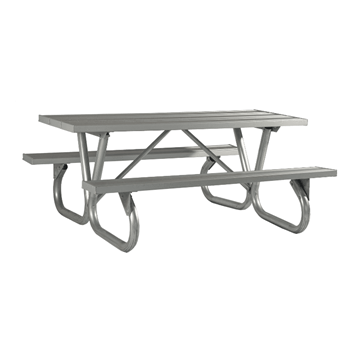 6 Ft. Heavy Duty Aluminum Picnic Table