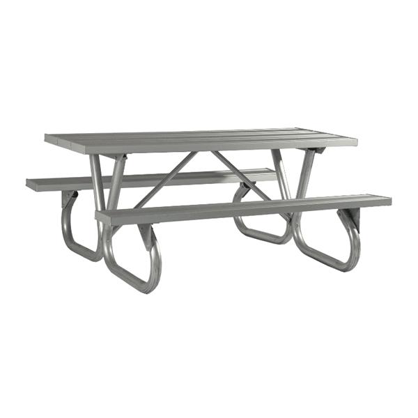 6 Ft. Heavy Duty Aluminum Picnic Table