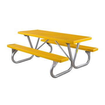6 Ft. Heavy Duty Plastisol Coated Metal Picnic Table