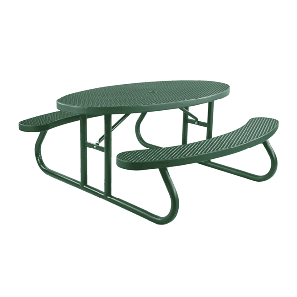 6 Ft. Oval Plastisol Expanded Metal Picnic Table