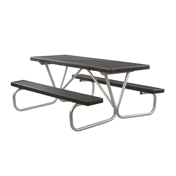 6 Ft. Plastisol Coated Metal Picnic Table