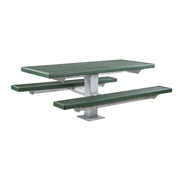 6 Ft. Plastisol Pedestal Picnic Table