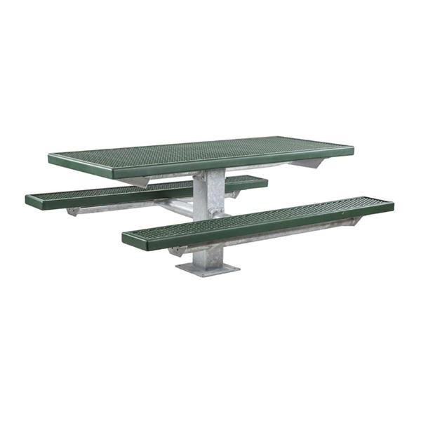 6 Ft. Plastisol Pedestal Picnic Table