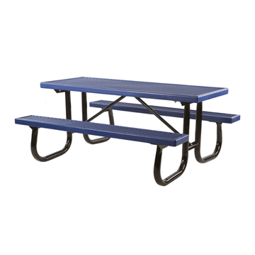 6 Ft. Quick Ship Plastisol Coated Metal Picnic Table