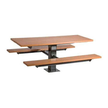 6 Ft. Recycled Plastic Pedestal Picnic Table