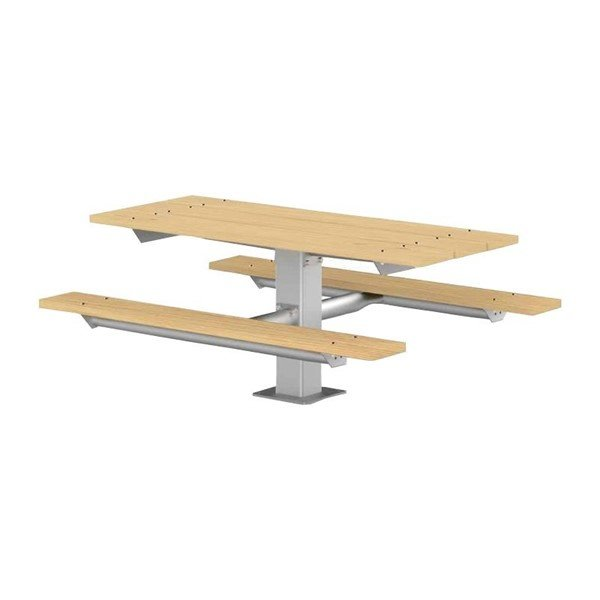 6 Ft. Wooden Pedestal Picnic Table