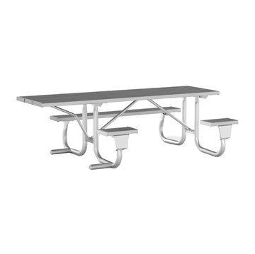 8 Ft. ADA Aluminum Picnic Table