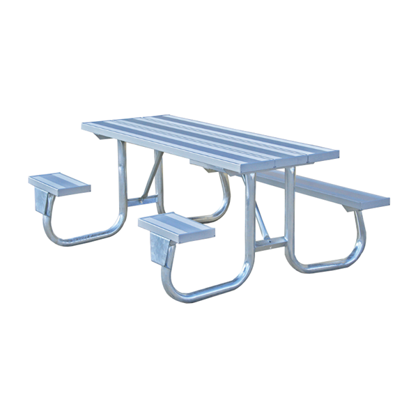 8 Ft. ADA Aluminum Picnic Table, Wheelchair Accessible