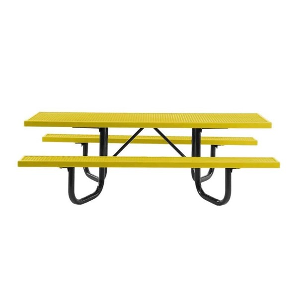8 Ft. ADA Compliant Plastisol Expanded Metal Picnic Table with Dual End Access
