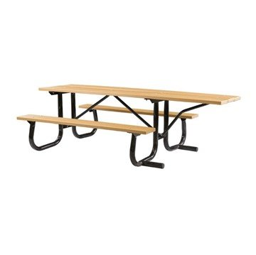 8 Ft. ADA Recycled Plastic Picnic Table, Wheelchair Accessible