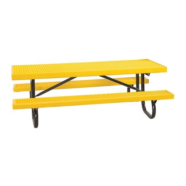 8 Ft. Children's Plastisol Coated Expanded Metal Picnic Table