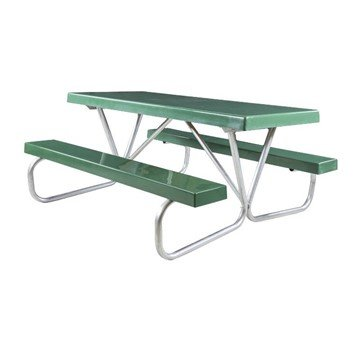 "8 Ft. Fiberglass Picnic Table with Bolted 1 5/8"" O.D. Tube Steel Frame"