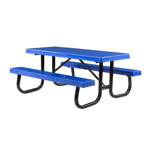 8 Ft. Heavy Duty Fiberglass Picnic Table with Welded Galvanized Steel Frame