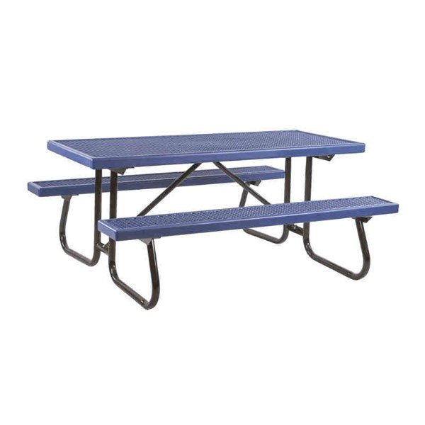 8 Ft. Plastisol Coated Expanded Metal Picnic Table