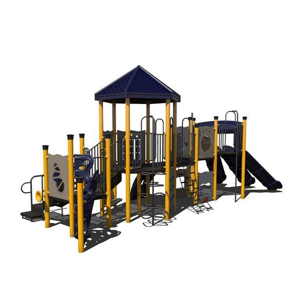 Triple Play Commercial Playground Equipment Made From Industrial Powder Coated Steel - Ages 5 To 12 Years