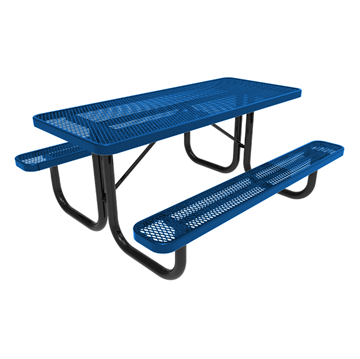 Elite Series 6 ft. Thermoplastic Polyethylene Coated Picnic Table