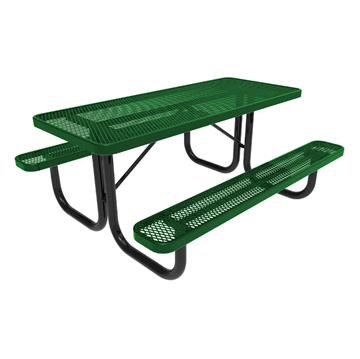 RHINO 6 ft. Thermoplastic Polyolefin Coated Picnic Table