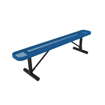Elite Series 8 Ft. Thermoplastic Polyethylene Coated Backless Bench