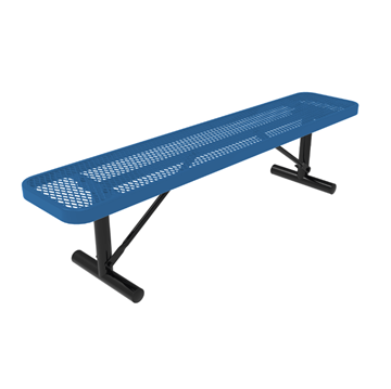 Elite Series 8 Ft. Thermoplastic Polyethylene Coated Backless Players Backless Bench - 79 lbs. - Quick ship
