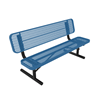 Elite Series 4 Ft. Thermoplastic Polyethylene Coated Players Bench with Back - 96 lbs. - Quick Ship