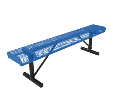 Elite Series 6 Ft. Thermoplastic Polyethylene Coated Rolled Backless Bench - 63 lbs. - Quick ship