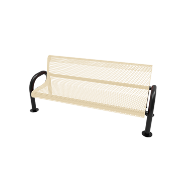 ELITE Polyethylene MOD Bench with Back, 6 Ft.