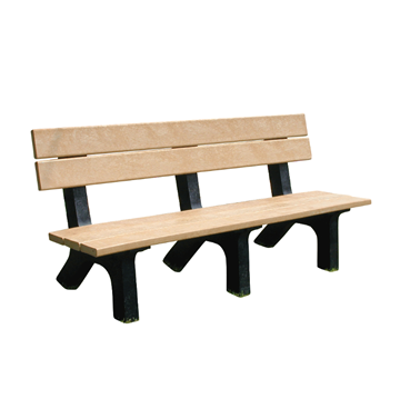 Evergreen Series Rock Island Recycled Plastic Park Bench - 4' or 6'