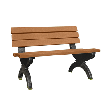 Monarque Recycled Plastic Bench with Back