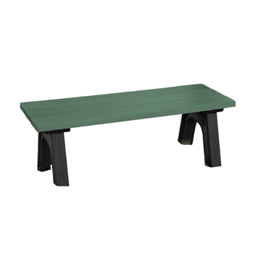 Traditional Recycled Plastic Bench without Back