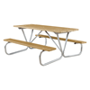 """Picture of 8 Ft. Recycled Plastic Picnic Table with Bolted 1 5/8"""" O.D. Tube Steel Frame - 275 Lbs."""