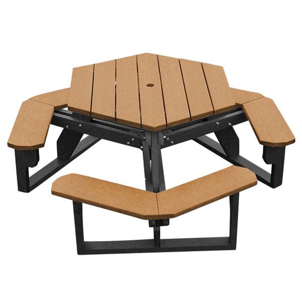 Economizer Hexagonal Recycled Plastic Picnic Table