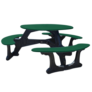 Bodega Style Recycled Plastic Round Table - 155 lbs.