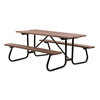 "6 Ft. Recycled Plastic Picnic Table with 1 5/8"" Welded Galvanized Frame"