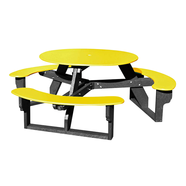 Open Round Recycled Plastic Table