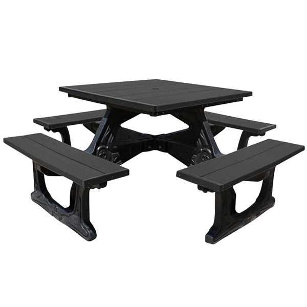 Town Square Recycled Plastic Picnic Table - 288 lbs.