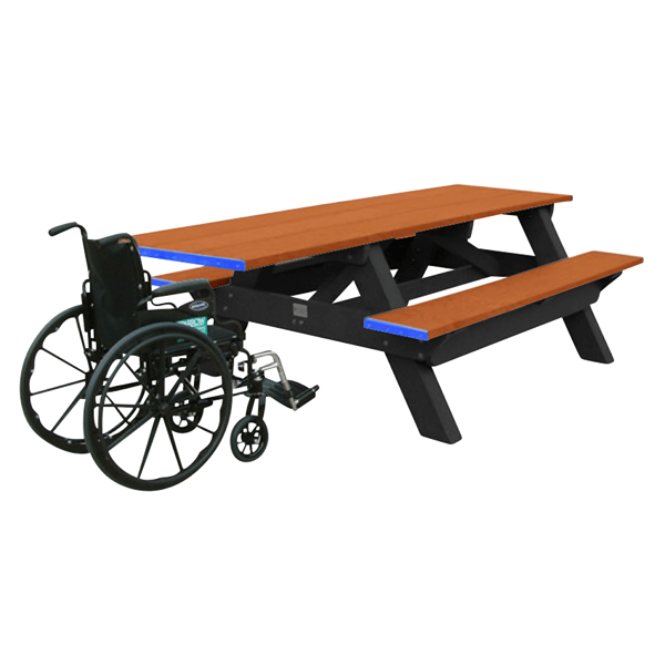 Single ADA Recycled Plastic Picnic Table