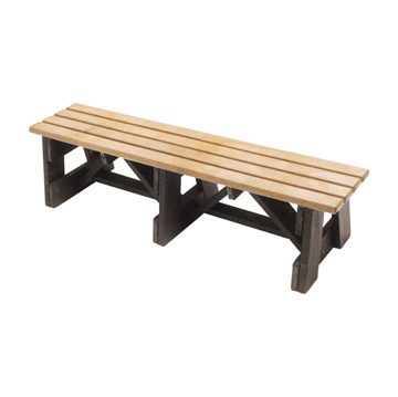 6 Foot Slatted Recycled Plastic Boardwalk Style Bench, 137 lbs.