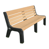 Evergreen Series Heavy Duty High Back Recycled Plastic Garden Bench - 4', 5', or 6'