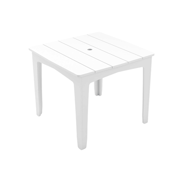 Mainstay High Density Polyethylene Square Dining Table