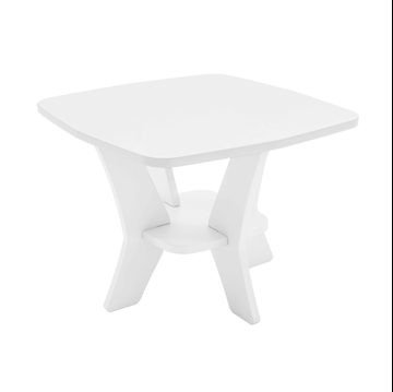 Mainstay High Density Polyethylene Square Side Table
