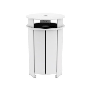Mainstay High Density Polyethylene Round 40 Gallon Trash Bin
