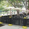 Decorative Lattice Style Resin Patio Fencing With Portable Bases