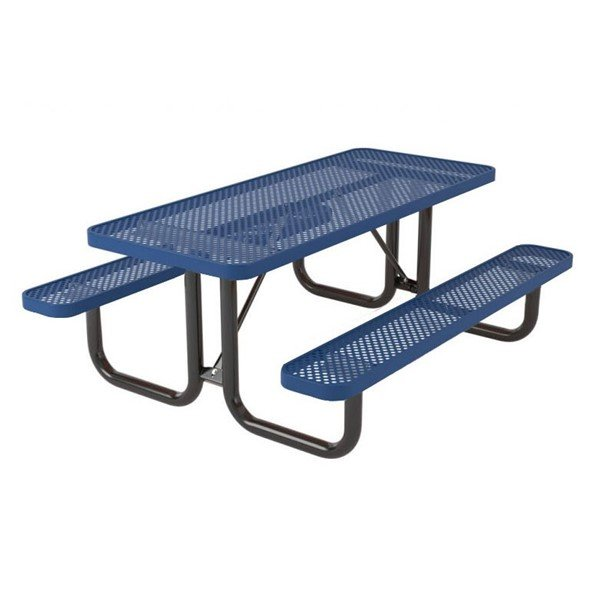 Ultra Leisure Perforated Style Polyethylene Coated Steel Picnic Table