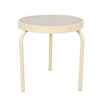 "19"" Acrylic Round Stackable Side Table"