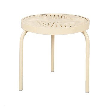 "19"" Aluminum Round Stackable Side Table"