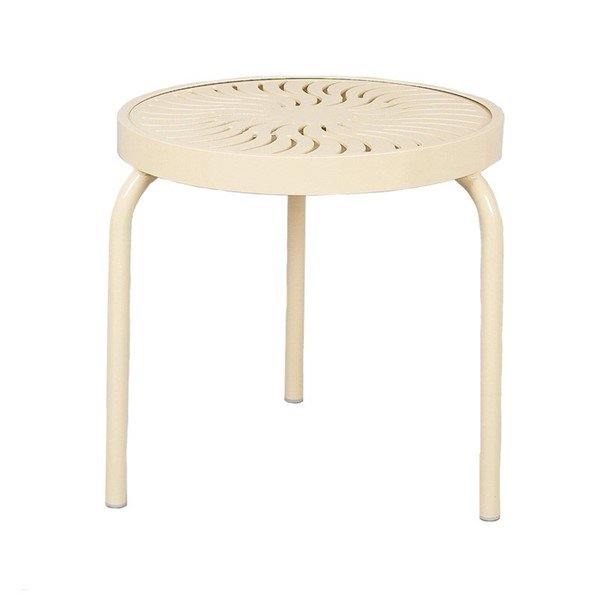 """19"""" Aluminum Round Stackable Side Table"""