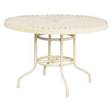 "42"" Aluminum Round Dining Table"