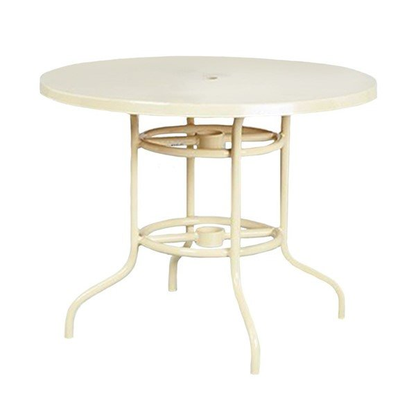 "42"" Fiberglass Round Dining Table"