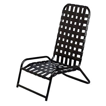Daytona Cross Weave Vinyl Strap Commercial High-Back Sand Chair
