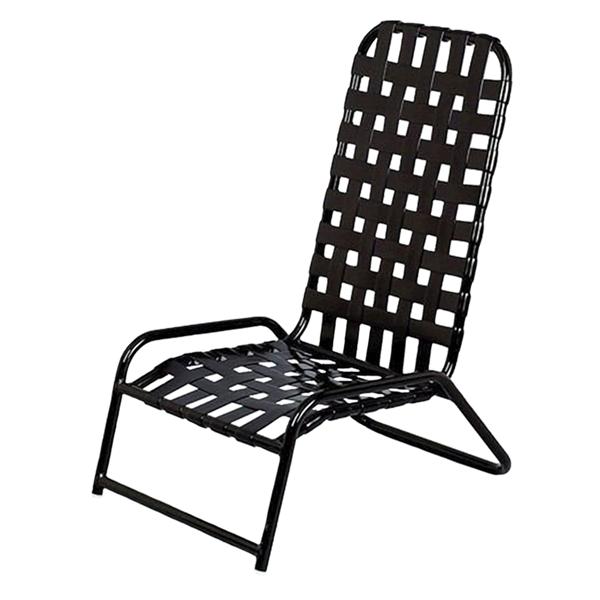 Daytona Cross Weave Vinyl Strap Commercial High-Back Sand Chair